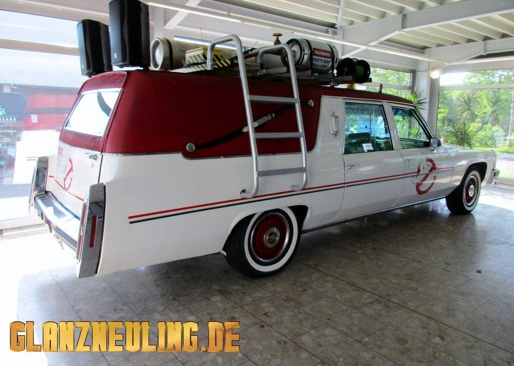 Filmauto Cadillac Leichenwagen ähnlich Ghostbusters mieten