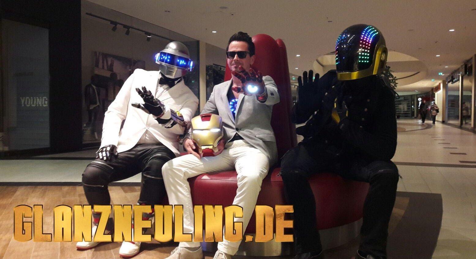 Leuchtende Daft Punk Helme mieten