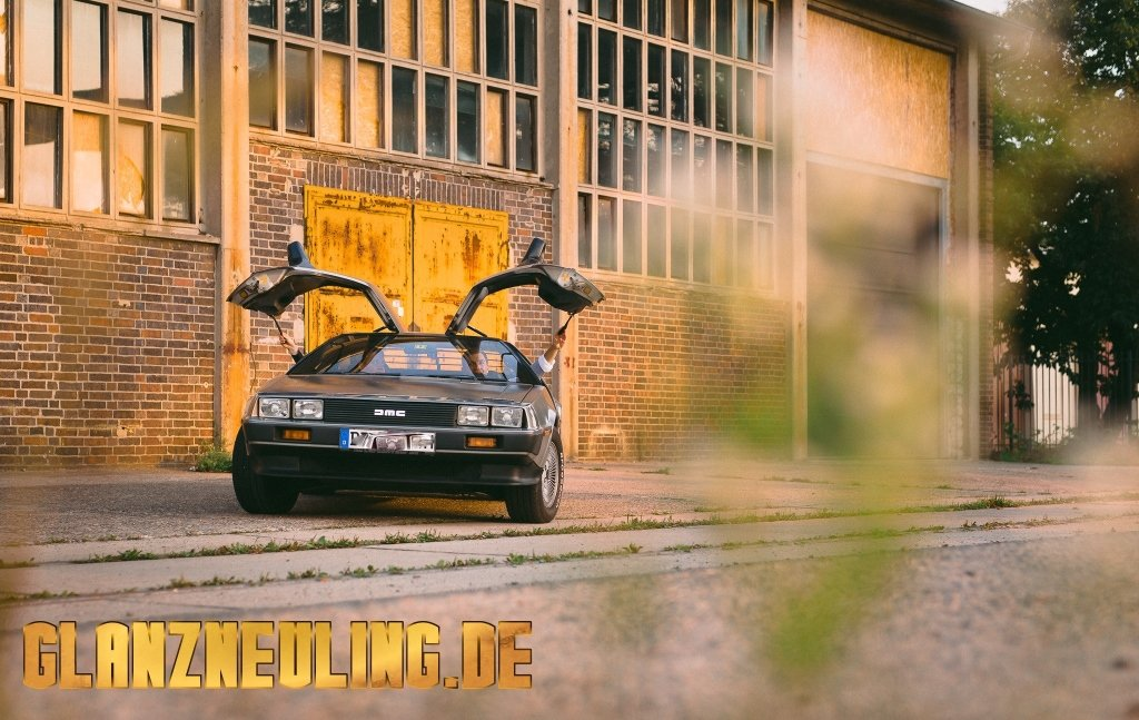 Fotoshooting Carporn mit Delorean DMC12