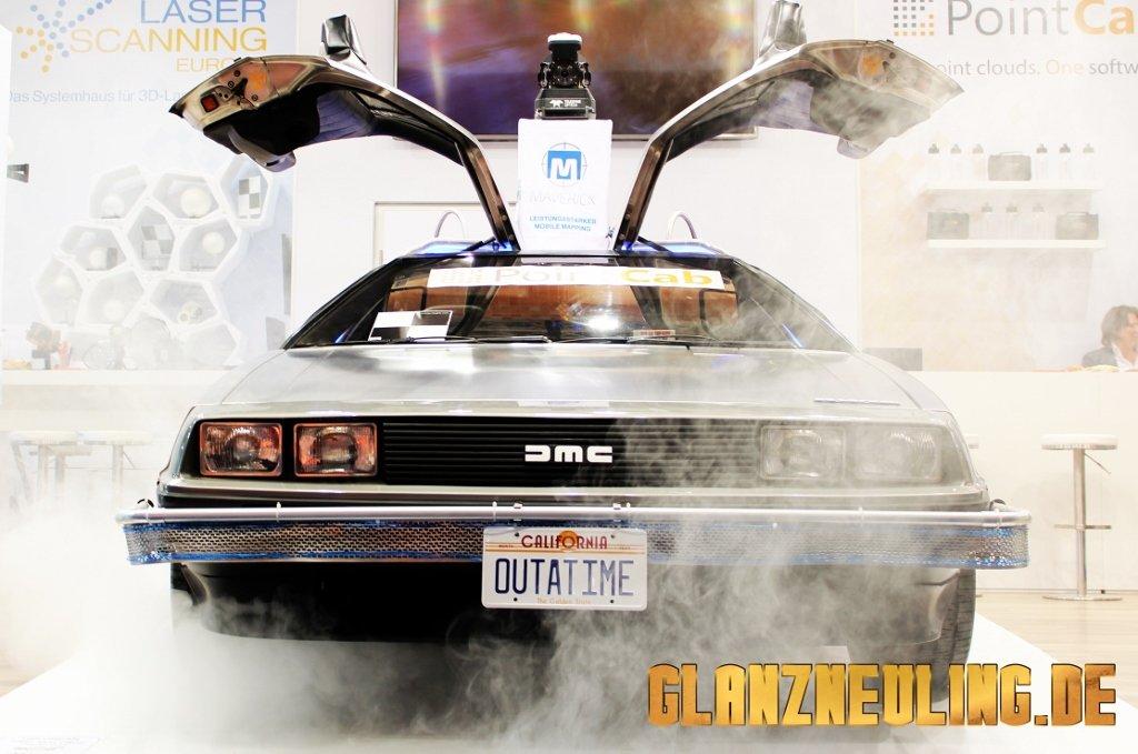 Nebel mit Showcar mieten Delorean Zeitmaschine
