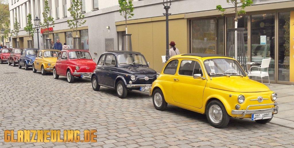 kleines Auto Oldtimer Ausfahrt Dresden, Meißen