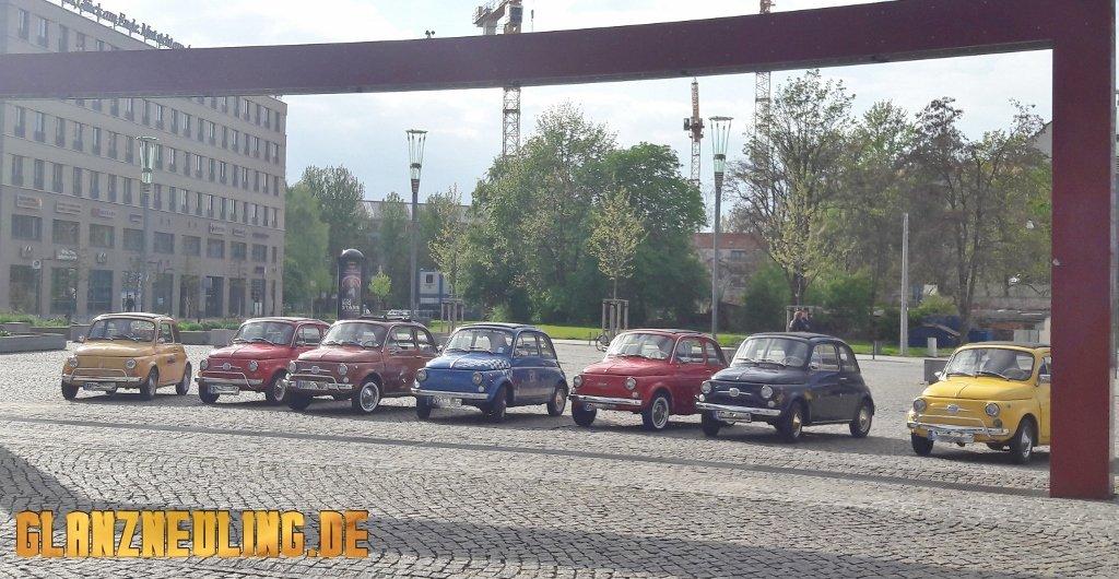 Fiat 500 Treffen Dresden Elbflorenzione