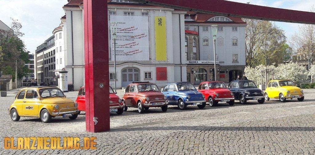 fiat treffen Oldtimer Ausfahrt Dresden, Meißen Sachsen