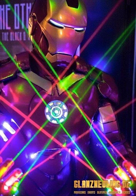 lasershow mit einem iron held / mieten