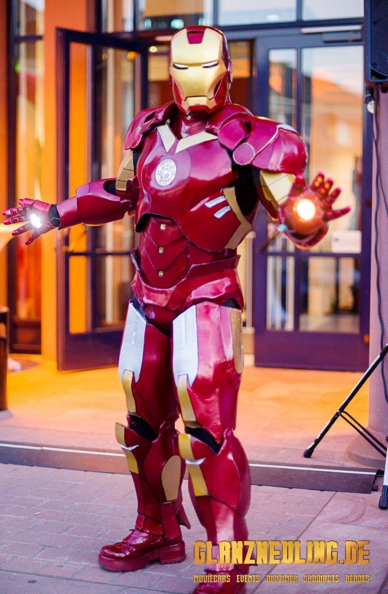 iron hero mieten für show messe und party