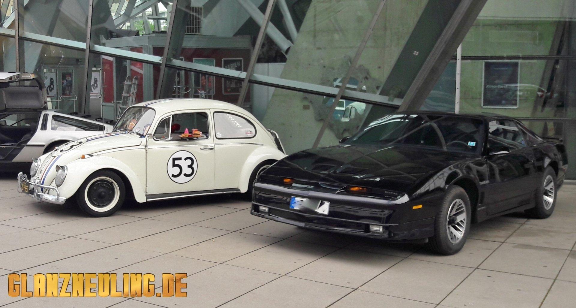 Herbie und Pontiac Knight Rider vermietung
