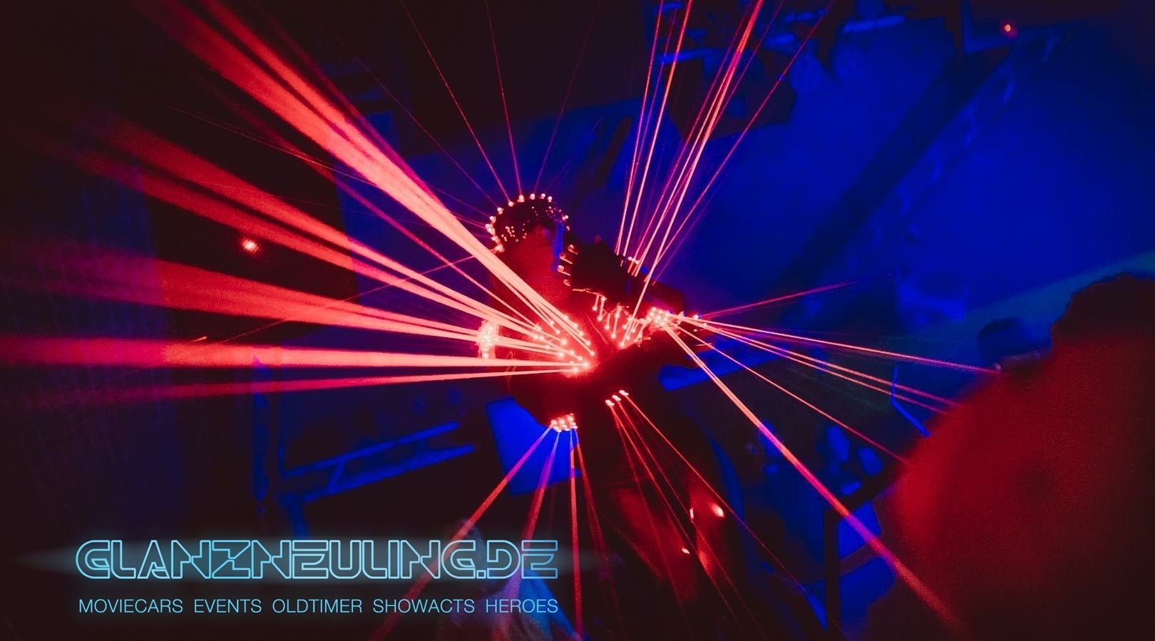 led show mit laser walking act buchen