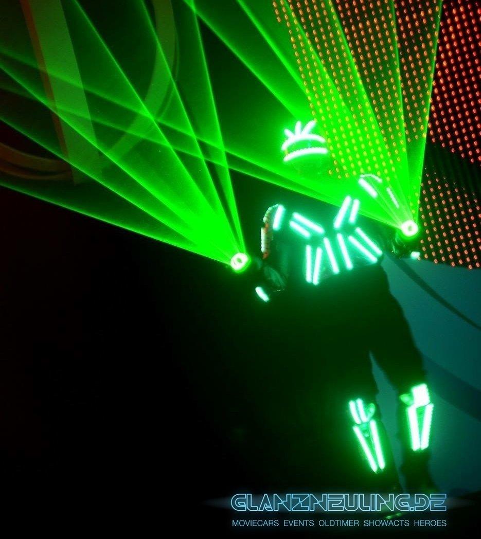 LED LAser Show mieten mit Tänzer