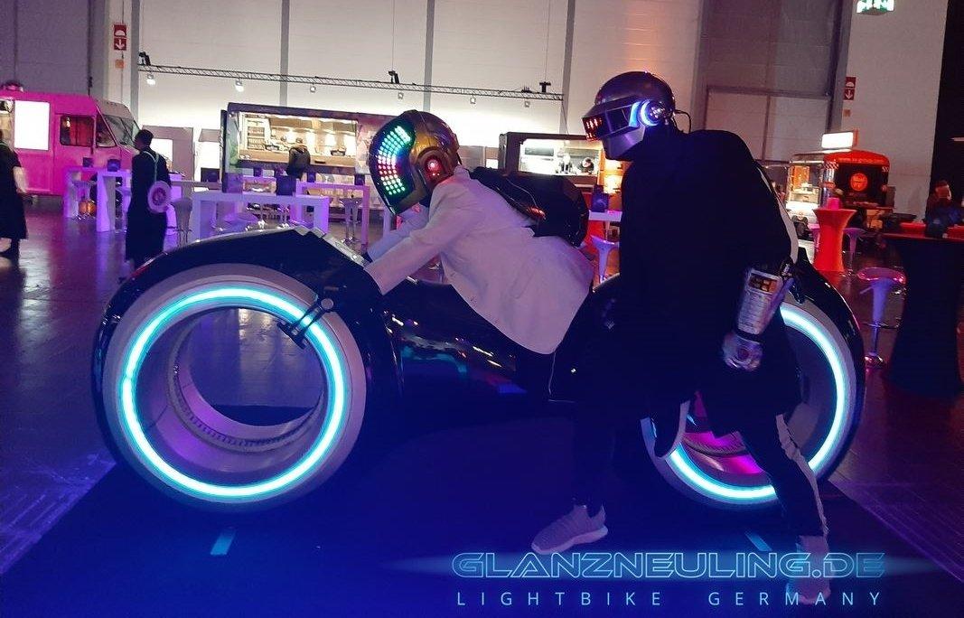 futurebike lightbike mit dj team mieten mieten