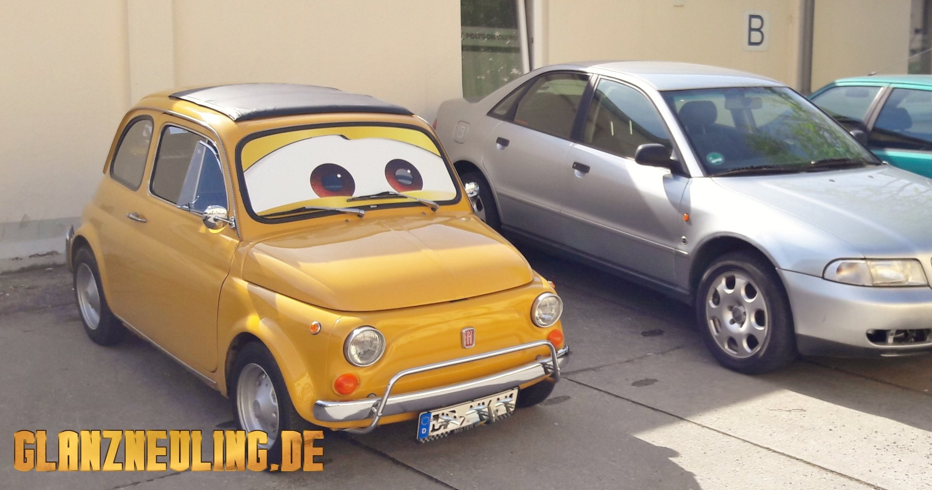 Süßes Auto Oldtimer gelb mieten Sachsen, Dresden, Berlin, BRandenburg Görlitz