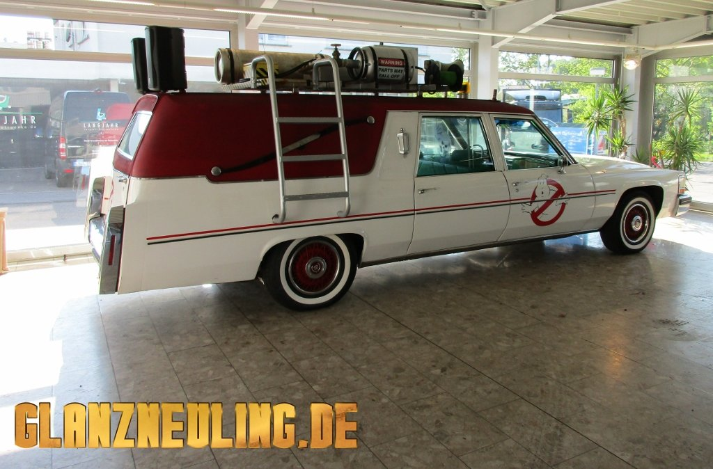 Cadillac Fleetwood mieten ähnlich Ghostbusters