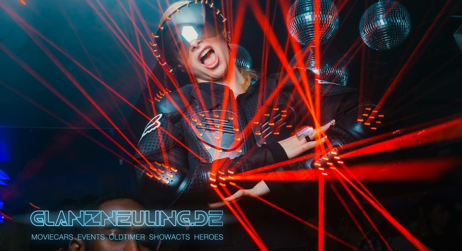 laser tänzerin mieten für party