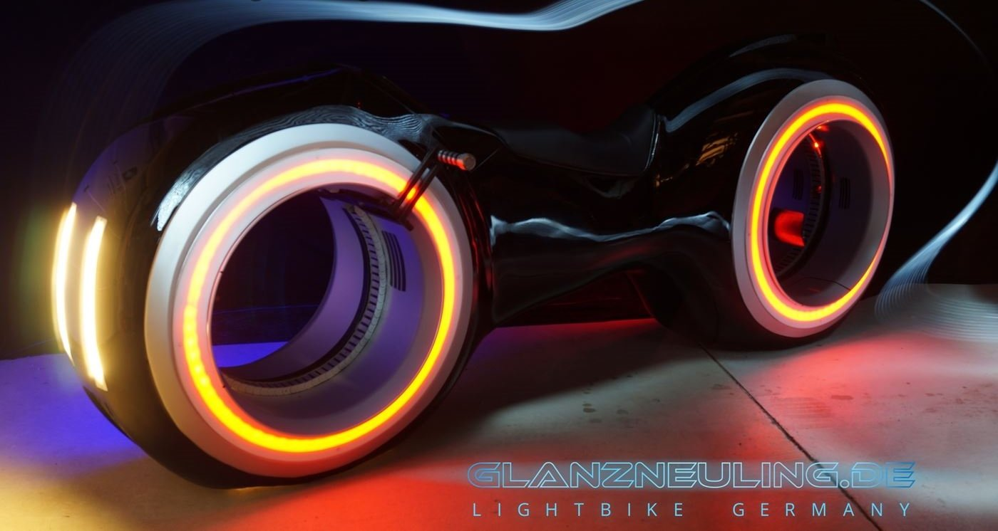 Digitalsierung idee Eyecatcher Lightbike mieten Event MEsse