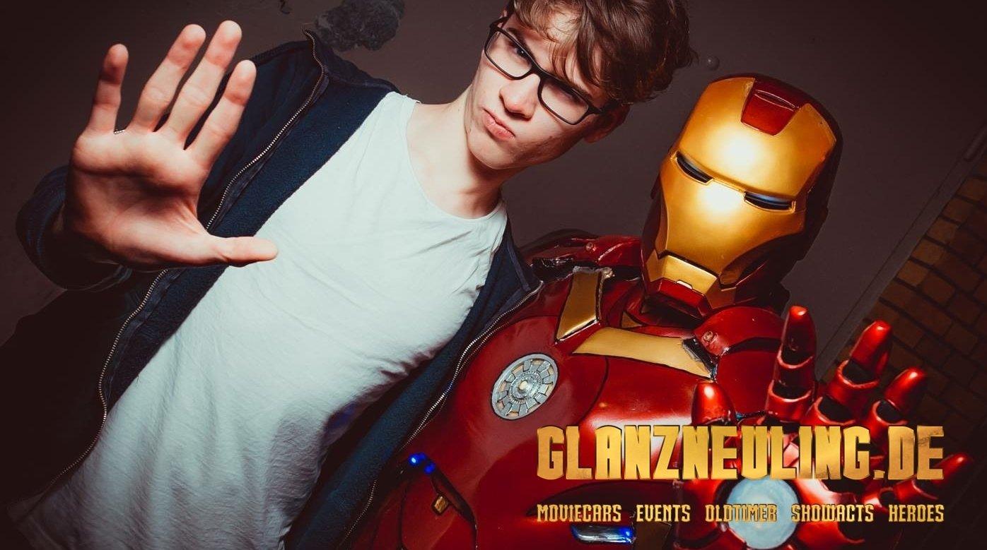 iron hero mieten für show event selfiepoint