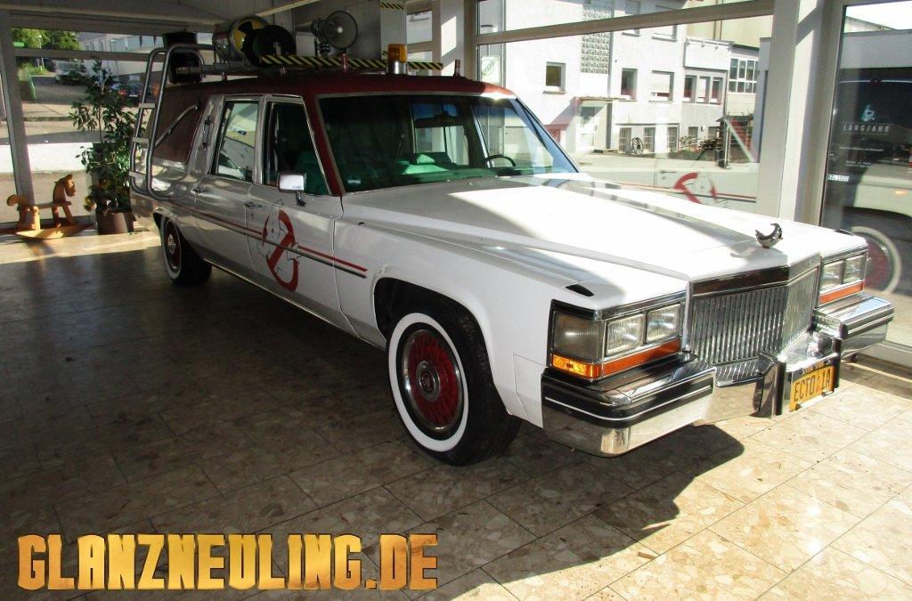 Cadillac Leichenwagen mieten ähnlich Ghostbusters