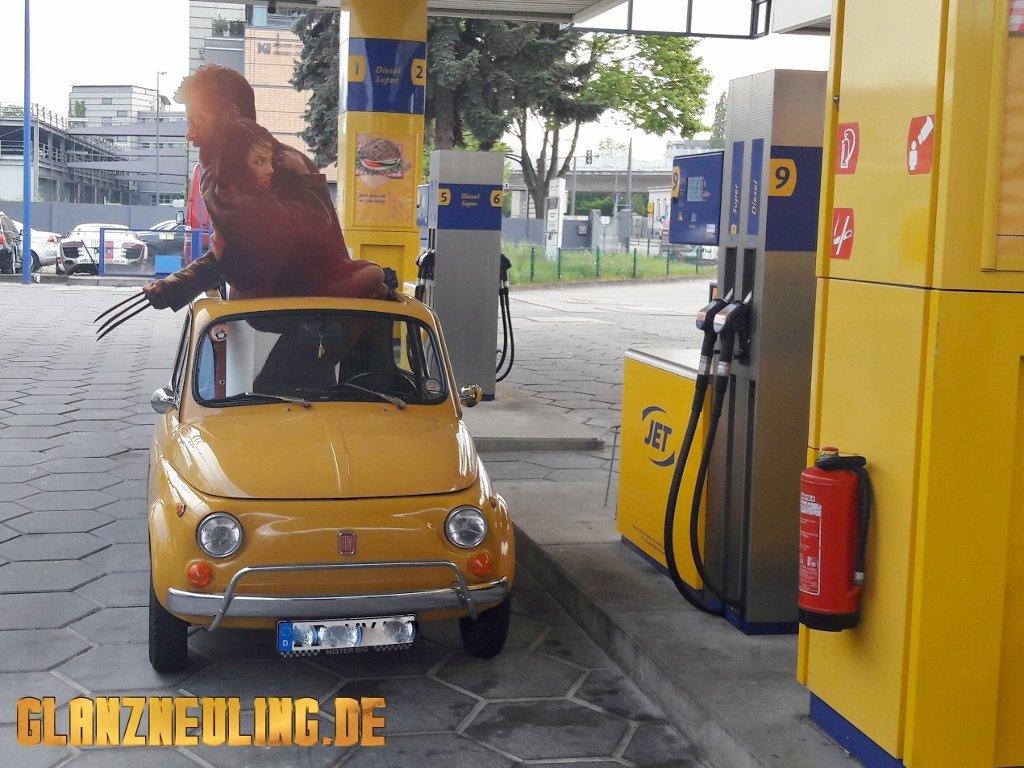 Fiat 500 gelber OLdtimer mieten Dresden Sachsen